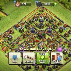 Clash of clans account th11